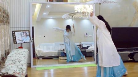 紫嘉儿广场舞 原创超唯美的伞舞镜面分解教学 云梦-乘云归 中年人可以学的广场舞教学视频
