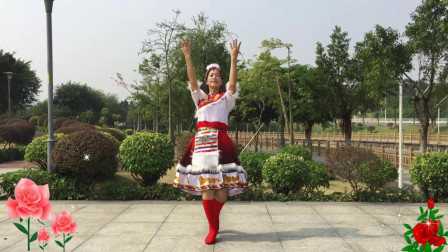 蓝天云广场舞《想西藏》12节跳跳乐健身操