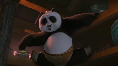 功夫熊猫:师父发现阿宝吃货的潜力,为了吃口好吃的拼了