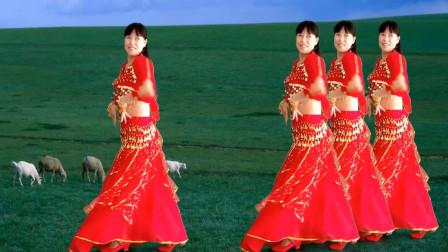 阿真广场舞 舞步轻巧好看《热辣媚娘》舞蹈视频