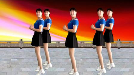 简单流行摆胯舞视频《DJ花桥流水》 阿真广场舞