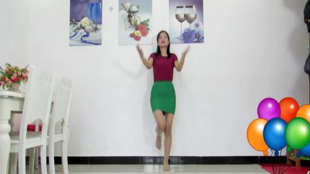 神农舞娘广场舞《桃花姑娘》 简单易学适合妇女健身