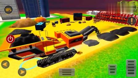 驾驶工程车修筑铁路小游戏益智玩具