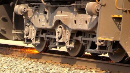 原来火车起步时轮子会打滑,看完真是长见识了!