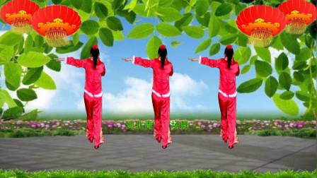 点击观看《河北青青广场舞《张灯结彩》背面演示和口令分解双教学》