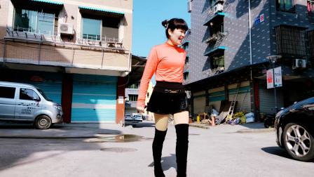 麦芽安静的路上跳个广场舞《你怎么说走就走DJ》64步