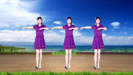 河北青青广场舞《自由飞翔》32步附教学
