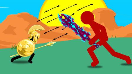 火柴人战争:闯到僵尸模式的第60大关,怪物变的血厚攻高太强了