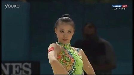 邓森悦2013艺术体操世锦赛全能第4创亚洲最高名次 -- 棒操