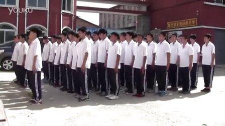 丹东市曙光职专2013级军训检阅演练1