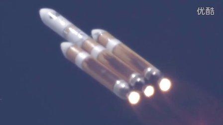 美国最大重型火箭发射机密间谍卫星震撼现场