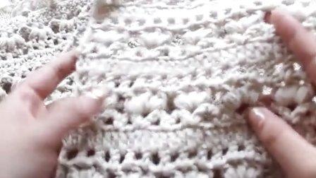 小手编织梦想-秋冬钩针三叶草围巾围脖编织教程