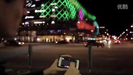 丹麦工业联合会大厦2013年文化夜创意灯光表演