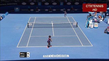 2013澳大利亚网球公开赛女单QF 小威廉姆斯VS斯蒂芬斯 (自制HL)