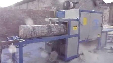 原木多片锯 圆木多片锯 正启机械厂 山西长治400原木 4米长加工现场