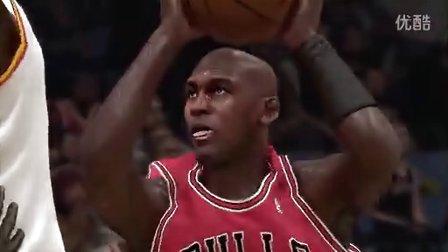 永远的乔丹篮球时刻,PS4《NBA 2K14》回放剪辑画面