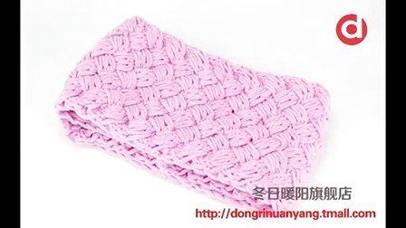 [娟娟编织]席纹针围巾编织视频教程编织教学请关注我们噢最简单编织方法