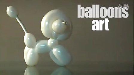 氣球造型藝術小狗