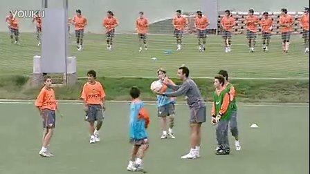 U12训练:四角传球策应(瓦伦西亚)