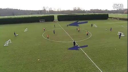 U14训练:3V2交替攻防1(切尔西)