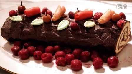 【圣诞节】巧克力劈柴蛋糕 Bûche de Noël