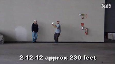 John Collins 纸飞机230英尺70米世界纪录 超清
