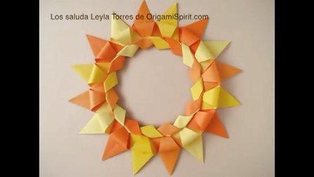 『圣诞花环』折纸教程