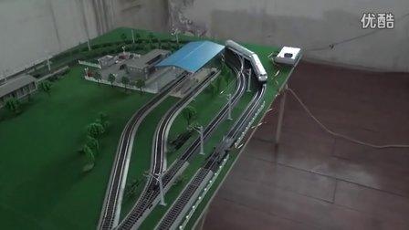 白色NJ2内燃机车双机重联(数码芯片升级)试车运行