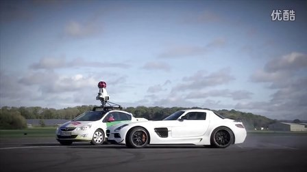 The Stig 协助谷歌街景Google Street View Car拍摄Top Gear赛道