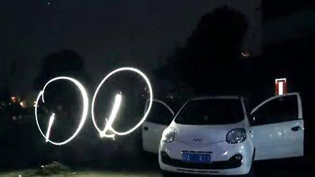 浓雾下的马年春节光绘奇瑞新QQ,感觉女儿瞬间长大了!——手机行车记录