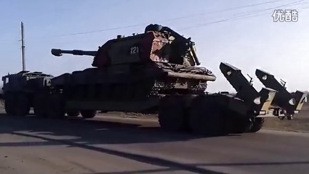 乌克兰再出重型武器,125mm口径火炮运抵克里米亚