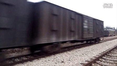 20130413广梅汕龙川铁场站单线让车实拍