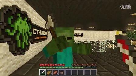 【原创】Minecraft动画-电梯门外