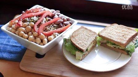 《宅男美食》52集健康午餐金枪鱼三明治三豆沙拉 (Tuna Sandwich)