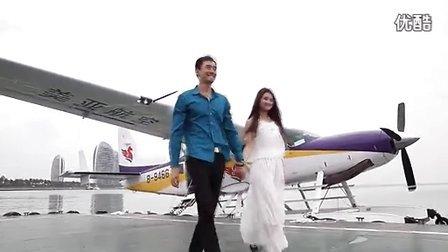 男模陈之栋携手女模郭靖体验美亚航空水上飞机 海天一色 为爱启航