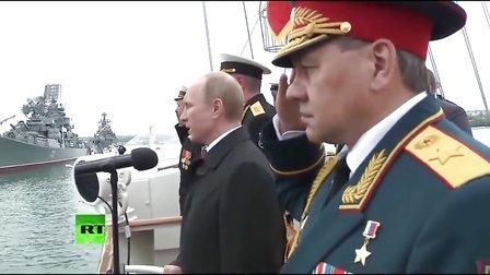 普京出席塞瓦斯托波尔2014年胜利日纪念活动(超清完整)