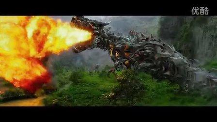 《变形金刚4:绝迹重生》最新中文预告 擎天柱激战香港 机器恐龙喷火暴走