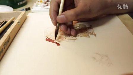 小新水彩手绘示范