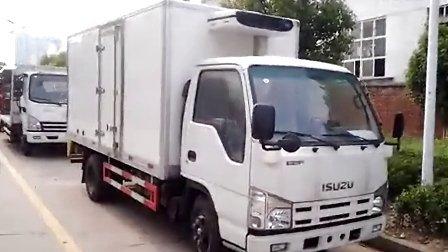 五十铃冷藏车 冷冻、保鲜货物封闭式厢式运输车qichefu
