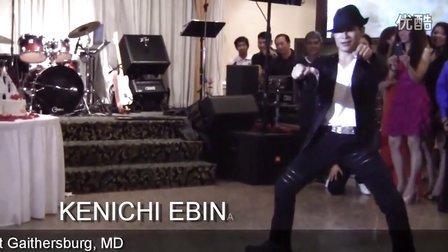 【粉红豹】美国达人秀冠军Kenichi_Ebina在婚礼接待宴的机械舞!