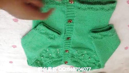 【昭尔茹悦】第4集 从上往下织的0-1岁宝宝开衫毛衣(第二集下)