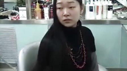 美女剪超长柔发