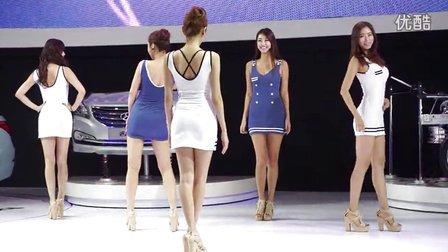 2013广州车展 现代展台韩模热舞