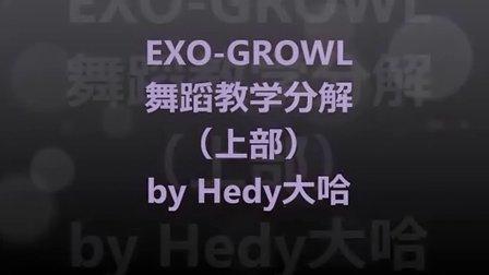 EXO growl咆哮 舞蹈教学分解(上部)