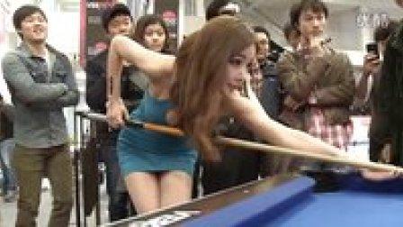【粉红豹】谁说漂亮妹子不能玩桌球?韩国超性感美女在台球室!