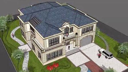 欧式别墅SU草图大师动画效果|自建房|农村住宅|三本建筑设计|绍兴