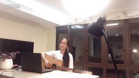 孤单心事 女生吉他弹唱