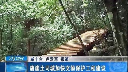 咸丰唐崖土司城加快文物保护工程建设