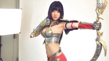 黄美姬代言37游戏《大天使之剑》 拍摄花絮