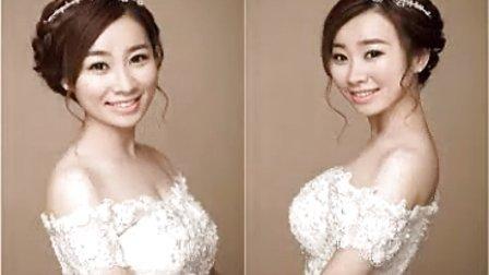 韩国新娘化妆 新娘盘发编发步骤盘发发型教学